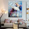 Ballet Dancer Modern Textured Knife Oil Portmanteau on Canvas for Lounge Room Wall Outfit