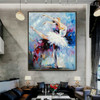 Ballet Dancer Modern Textured Knife Oil Portmanteau on Canvas for Living Room Wall Decor