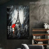 Eiffel Tower Night Modern Cityscape Texture Knife Effigy for Art Lovers
