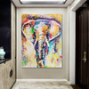 Elephant Abstract Animal Modern Handmade Canvas Portraiture for Wall Outfit
