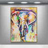 Elephant Abstract Animal Modern Handmade Canvas Portraiture for Interior Design