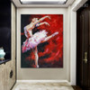 Dancing Girl Modern People Texture Knife Oil Smudge for Wall Onlay