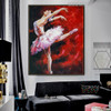 Dancing Girl Modern People Texture Knife Oil Smudge for Room Wall Assortment