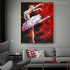 Dancing Girl Modern People Texture Knife Oil Smudge for Diy Wall Decor