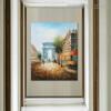 Triumphal Arch Modern Cityscape Texture Knife Portmanteau on Canvas for Wall Getup