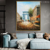 Triumphal Arch Modern Cityscape Texture Knife Portmanteau on Canvas Gift for Every Occasion