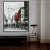 Eiffel Tower Scene Texture Handmade Oil Cityscape Likeness for Wall Outfit