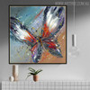 Butterly Animal Framed Oil Portraiture on Canvas for Room Wall Garnish