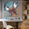 Butterly Animal Framed Oil Portraiture on Canvas for Home Wall Garniture
