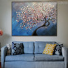 Cherry Blossom Tree Floral Texture Handmade Oil Resemblance on Canvas for Lounge Room Wall Getup