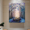 Beautiful Forest Modern Floral Landscape Texture Oil Painting on Canvas for Wall Tracery