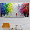 Buildings Modern Abstract Cityscape Texture Knife Effigy for Dining Room Wall Flourish
