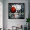 Paris Cityscape Heavy Texture Handmade Oil Resemblance on Canvas for Modern Interior Design