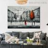 Eiffel Tower Art Modern Texture Handmade Cityscape Scheme for Wall Hanging Decor