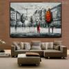 Eiffel Tower Art Modern Texture Handmade Cityscape Scheme for Living Room Wall Drape