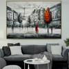Eiffel Tower Art Modern Texture Handmade Cityscape Scheme for Lounge Room Wall Tracery