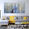 Daffodil Heavy Texture Handmade Canvas Portrayal for Floral Decoration on Wall
