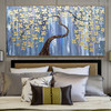 Daffodil Floral Heavy Texture Handmade Canvas Portrayal for Bedroom Wall Equipment