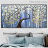 Daffodil Floral Heavy Texture Handmade Canvas Portrayal for Room Wall Decor