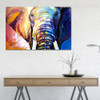 Hued Elephant Framed Handmade Animal Painting for Wall Outfit
