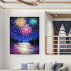Flood Modern Nature Texture Oil Painting for Riverscape Wall Decoration
