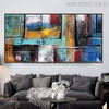 Abstract Boxes Framed Texture Handpainted Canvas for Living Room Wall Outfit