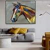 Studhorse Animal Modern Heavy Texture Knife Artwork for Home Wall Equipment
