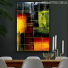 Horizontal Lines Modern Texture Acrylic Painting for Dining Room Wall Getup