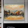 Sydney Opera House Modern Cityscape Heavy Texture Knife Smudge for Room Wall Decor