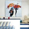 Violin Animal Modern Heavy Texture Palette Knife Scheme for Wall Decoration