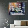 Blossom Framed Floral Palette Knife Likeness for Wall Flourish