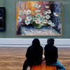 Blossom Framed Floral Palette Knife Likeness for Wall Finery