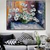 Blossom Framed Floral Palette Knife Likeness for Wall Decor