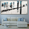 Bridge Abstract Modern Cityscape Texture Oil Vignette for Room Wall Equipment
