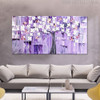 Beautiful Flowers Abstract Floral Modern Texture Knife Effigy for Room Wall Getup