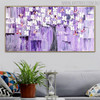 Beautiful Flowers Abstract Floral Modern Texture Knife Effigy for Living Room Wall Onlay
