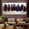 Edifices Cityscape Heavy Texture Knife Artwork for Lounge Room Wall Garnish