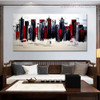Edifices Cityscape Heavy Texture Knife Artwork for Wall Getup