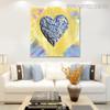 Creative Heart Abstract Modern Heavy Texture Handmade Canvas Art for Room Wall Getup
