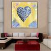 Creative Heart Abstract Modern Heavy Texture Handmade Canvas Art for Lounge Room Wall Decor