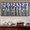 Chromatic Flowers Floral Modern Heavy Texture Handmade Oil Effigy for Wall Drape