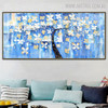 Colorific Tree Framed Floral Palette Knife Painting for Living Room Wall Assortment