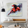 Lovely Horse Animal Abstract Modern Knife Portraiture on Canvas for Room Wall Garniture