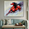 Lovely Horse Animal Abstract Modern Knife Portraiture on Canvas for Lounge Room Wall Moulding