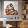 Shot Spots Animal Framed Heavy Texture Canvas Portrayal for Dining Room Wall Decor