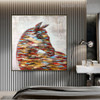 Shot Spots Animal Framed Heavy Texture Canvas Portrayal for Room Wall Disposition