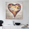 Spoted Heart Abstract Modern Bold Texture Handpainted Canvas for Room Wall Decor