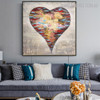 Spoted Heart Abstract Modern Bold Texture Handpainted Canvas for Living Room Wall Outfit