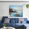 Coast Modern Seascape Nature Palette Knife Effigy for Living Room Wall Garniture
