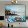 Coast Modern Seascape Nature Palette Knife Effigy for Room Wall Assortment